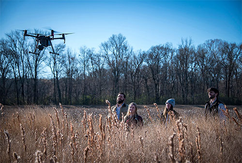 From the Ground Up: MSU wildlife researchers use UAVs to help conserve bird species, habitats