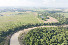 aerial view of Big Sunflower River